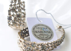 Aros Cr Swarovski gris